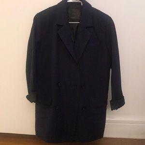 Blue/ Black Oversized Blazer